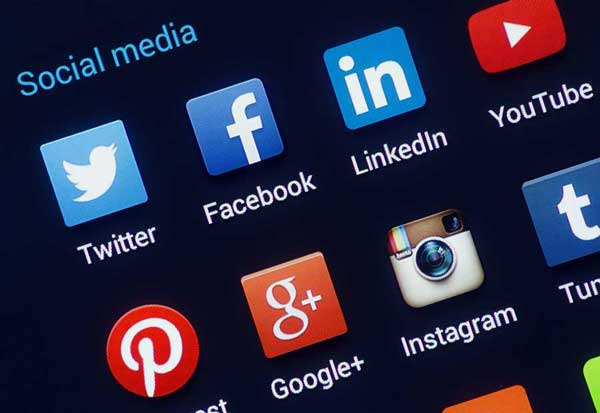 Picture of various social media icons
